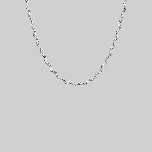 Zip-Zag Chain Collar Necklace silver