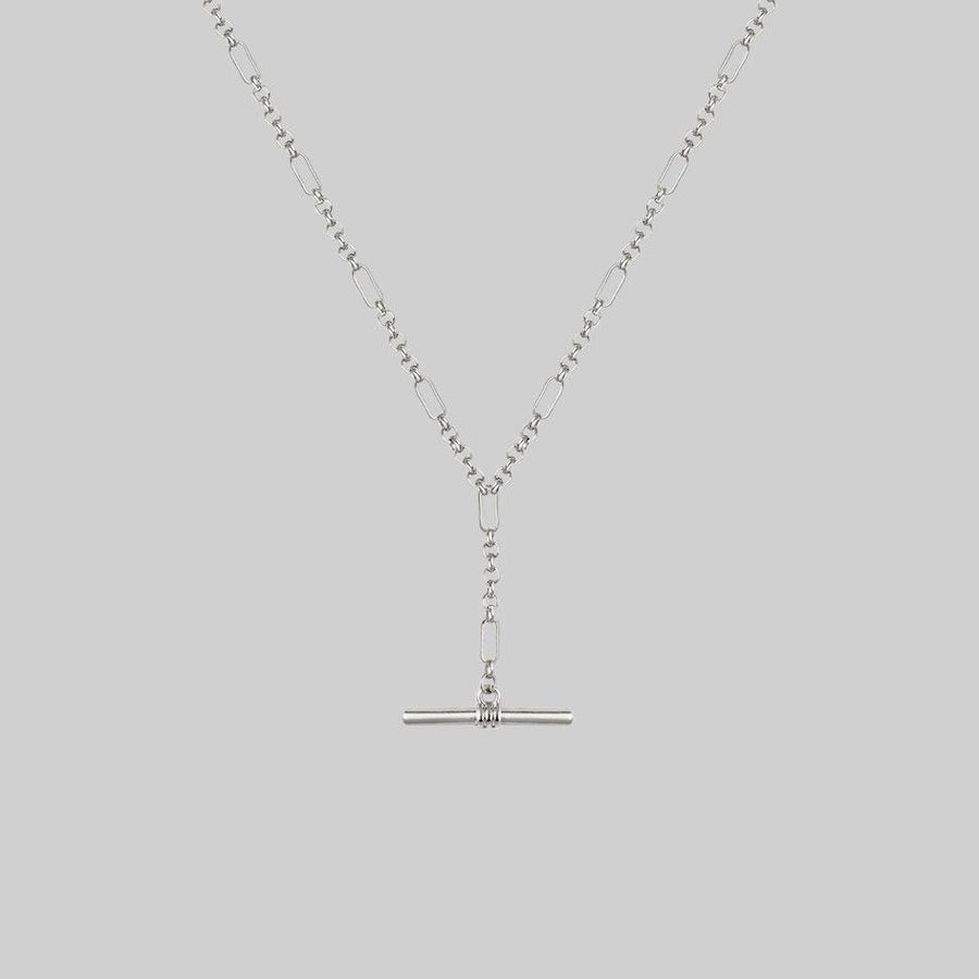 t-bar chain necklace, silver layering necklace