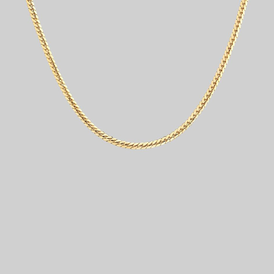 gold snake chain collar necklace