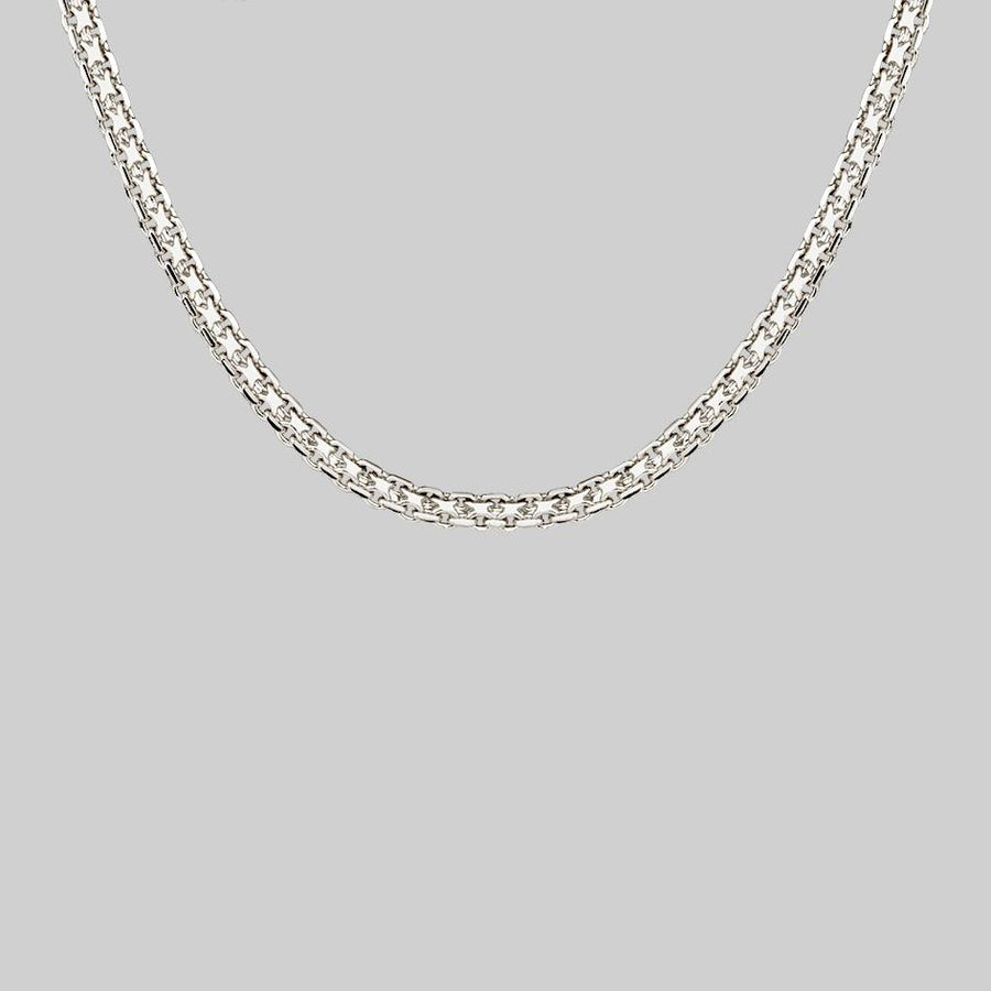thick silver chain necklace