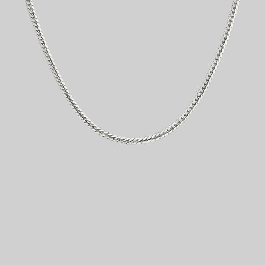Medium Snake Chain Collar - Silver