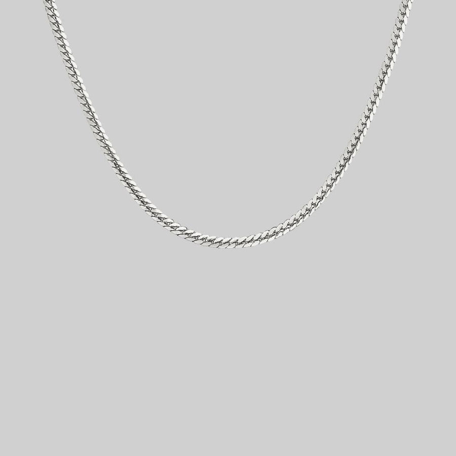 sterling silver snake chain collar necklace