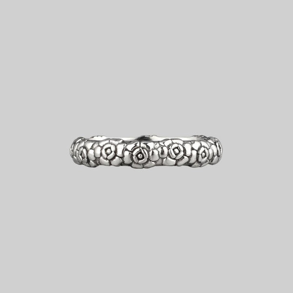 Serling silver posey ring