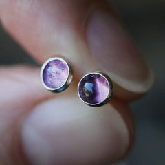 MAGICK. Amethyst Earrings  - 4mm