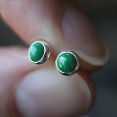 ENVY. Malachite Earrings  - 4mm