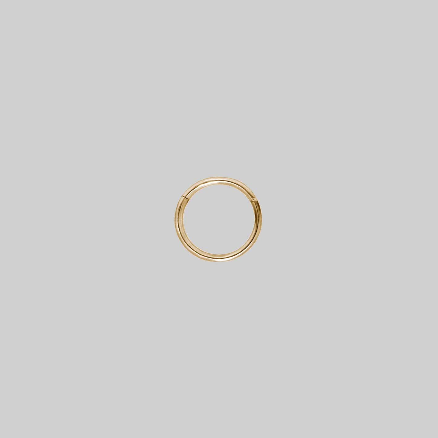 TUTSI EXTRA MINI. Gold Septum Clicker Ring