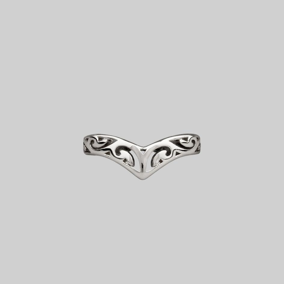 Sterling silver midi toe ring swirl design