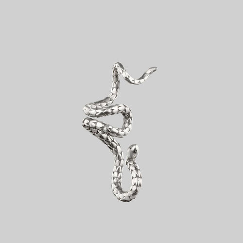 TORMENT. Heart & Dagger Carabiner Charm Necklace - Silver