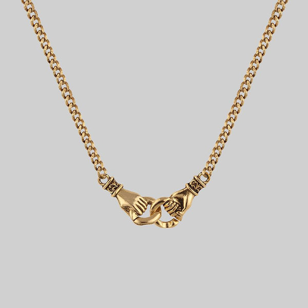 UNITY. Linking Hands Necklace - Gold