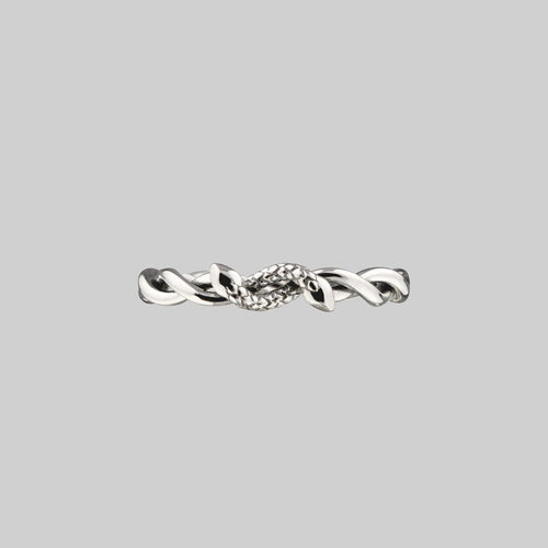DEVISE. Double Headed Snake Twist Ring - Silver