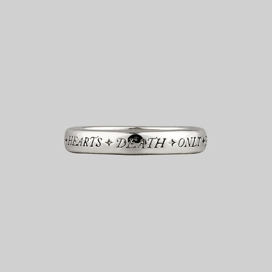 United Hearts Death Only Parts Posie Ring - Silver