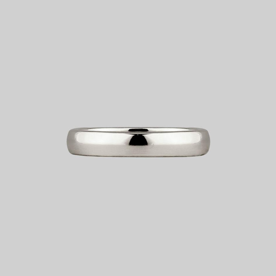 sterling silver posie ring gothic font inside