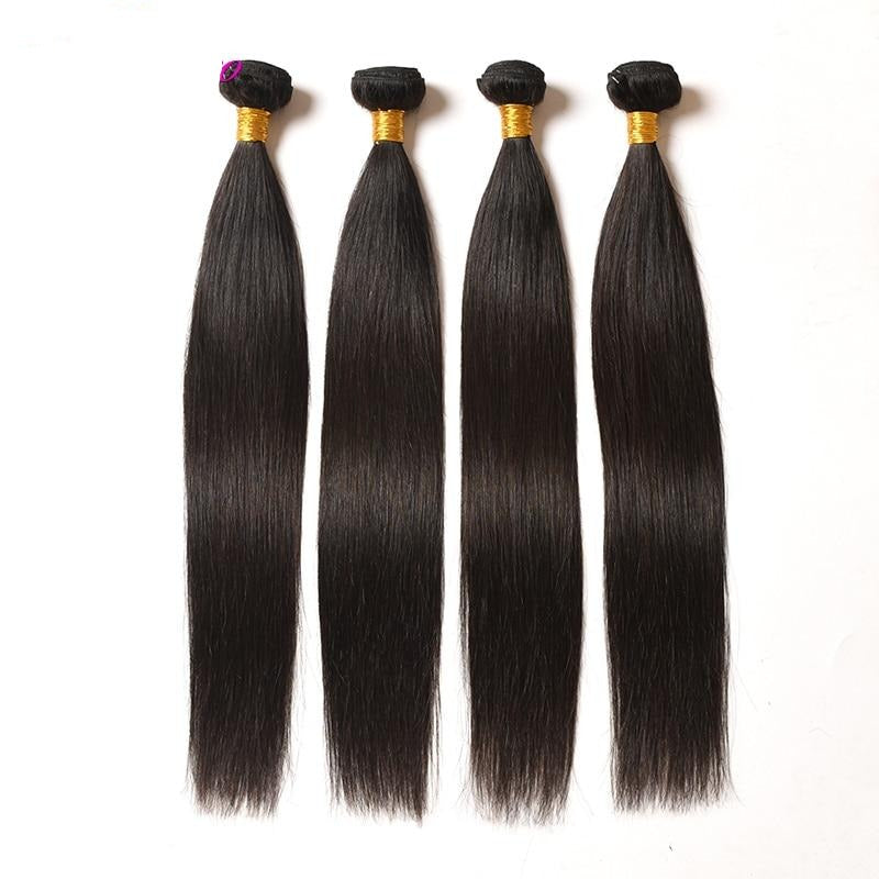 Brazilian Straight Hair 4 Bundles 100% Human Hair