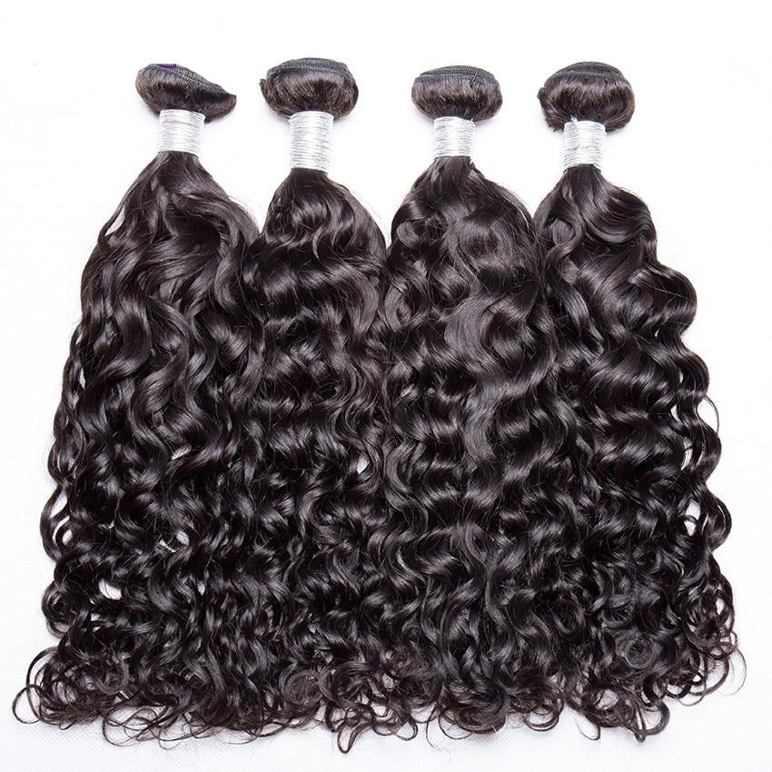 Malaysian Water Wave Human Hair Bundles 100%