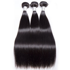 Malaysian Straight Hair 3 Bundles Human Hair