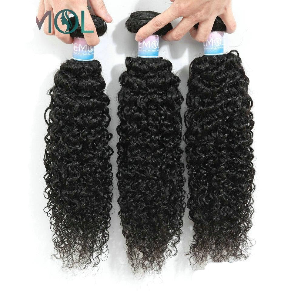 Malaysian Kinky Curly Hair Bundles 100% Human Hair