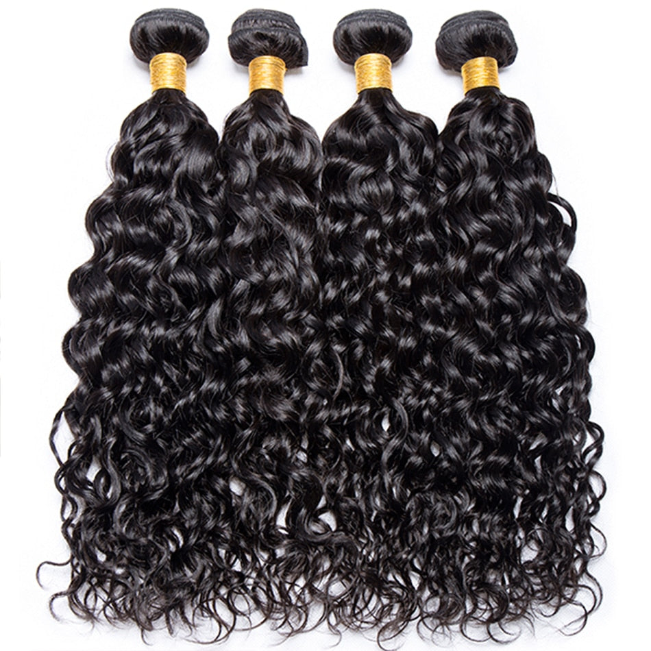 Brazilian Water Wave 3 / 4 Bundle Deals 100% Human Hair