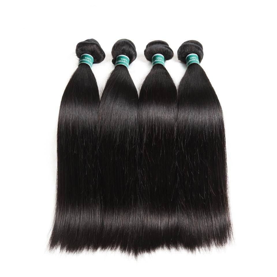 Hair Brazilian Straight Hair Bundles 1/3/4 Pcs