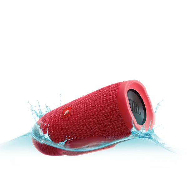 Coluna Charge 3 Portable Bluetooth Speaker-Red