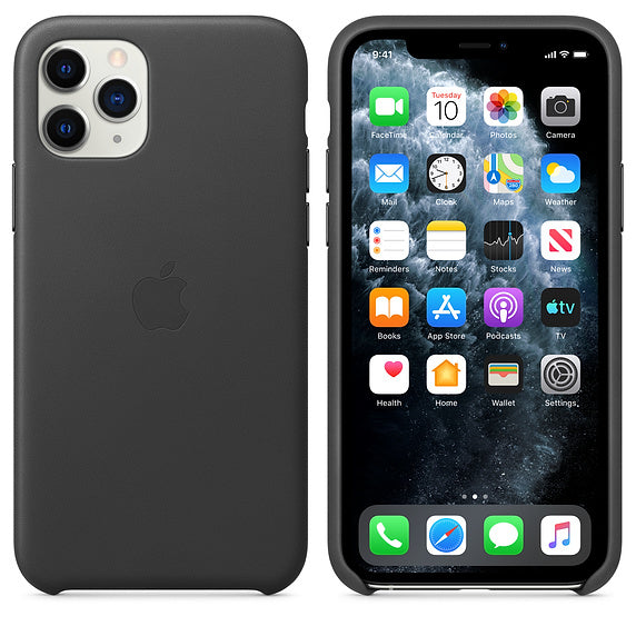 Apple iPhone 11 Pro Leather Case Black (MWYE2ZM/A)