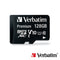 Verbatim microXC 128GB+SD Adapter UHS-I Class 10 (M44085)