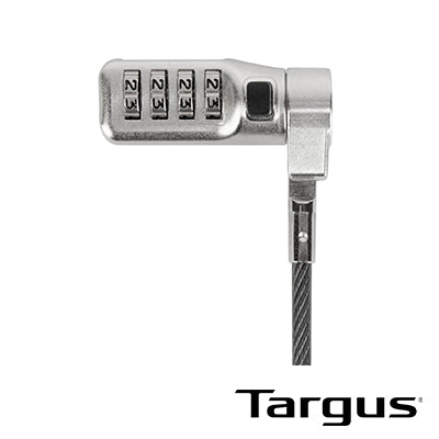 Targus Defcon 3-in-1 Fixed Combination Cable Lock (ASP86GL)