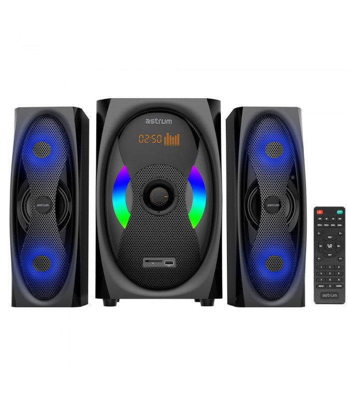 MS500 coluna astrum 2.1CH 120W Multimedia Speaker BT + USB + SD + FM Radio