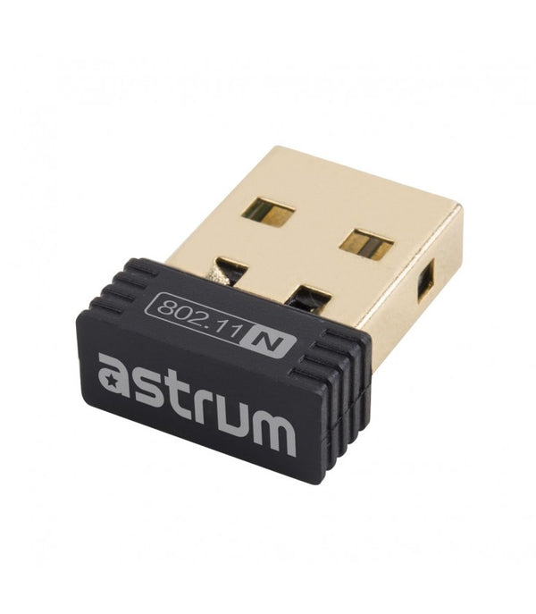 ADAPTADOR WIRELESS  150MBPS BLACK ASTRUM ( NA150 )