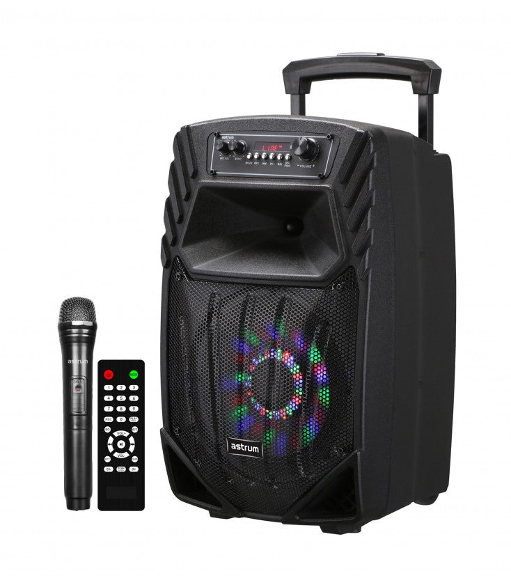 COLUNAS ASTRUM  MULTIMEDIA WIRELESS BT KARAOKE ( TM085  )