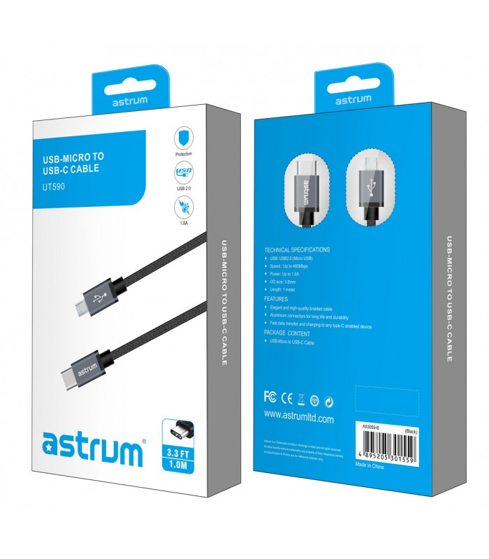 CABO ASTRUM TYPE-C to MICRO USB CHARGE /SYNC ( UT590 )