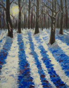 "Oil painting - ""Snow Shadows"""