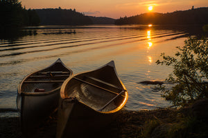 "Two Canoes Canvas Print, 16""x20"""