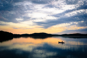 Canoeist at Sunset photo