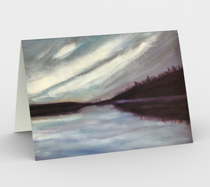 cache lake, set of 3 stationary cards