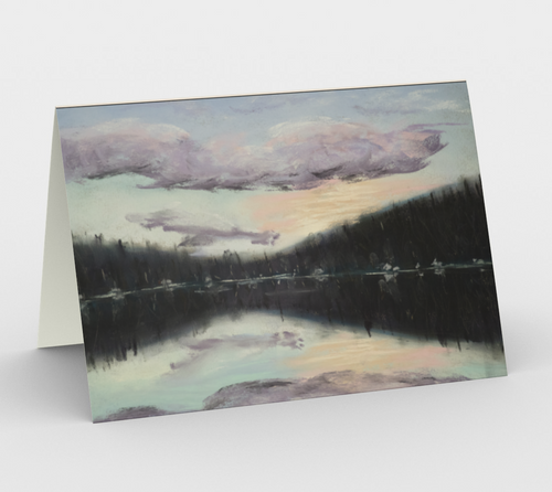 Daisy Lake greeting card, set of 3