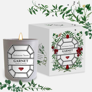 GARNET/JANUARY BIRTHSTONE CANDLE