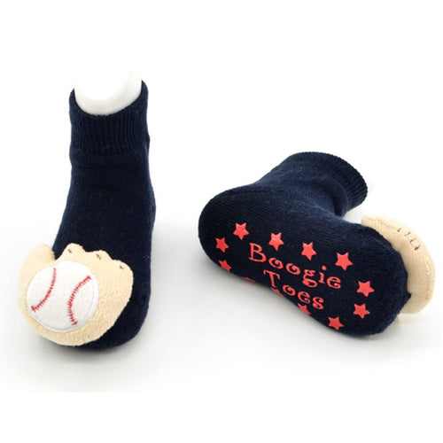 Baseball Toes Rattle Socks