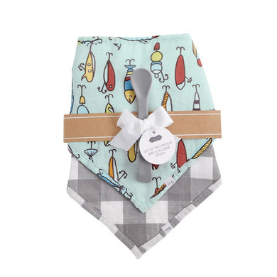Muslin Bibs & Spoon Set
