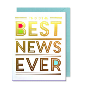 BEST NEWS EVER CONGRATS CARD