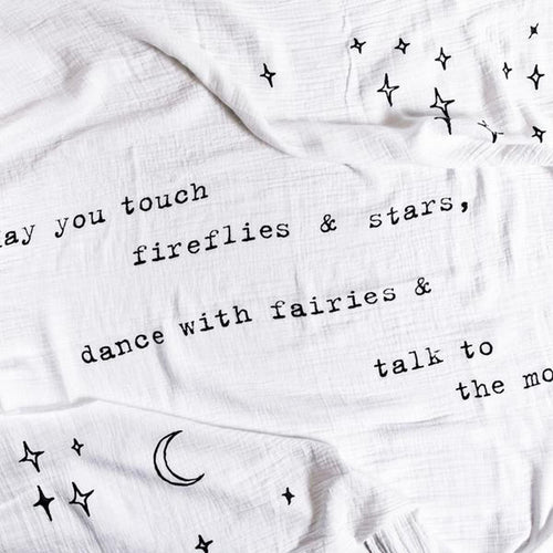MAY YOU TOUCH FIREFLIES SWADDLE