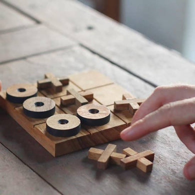 WOODEN TIC TAC TOE SET