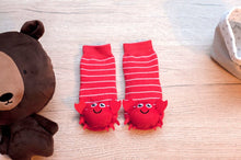 Load image into Gallery viewer, Red Crabby Boogie Toes Rattle Socks