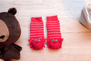 Red Crabby Boogie Toes Rattle Socks