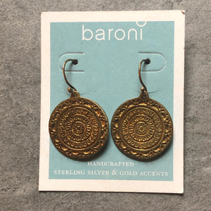 Baroni earrings- Gold plated over Sterling silver #40