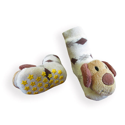 Brown Dog Boogie Toes Rattle Socks