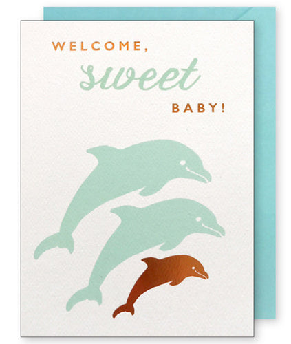 DOLPHIN BABY CARD