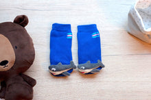 Load image into Gallery viewer, Blue SharkyBoogie Toes Rattle Socks