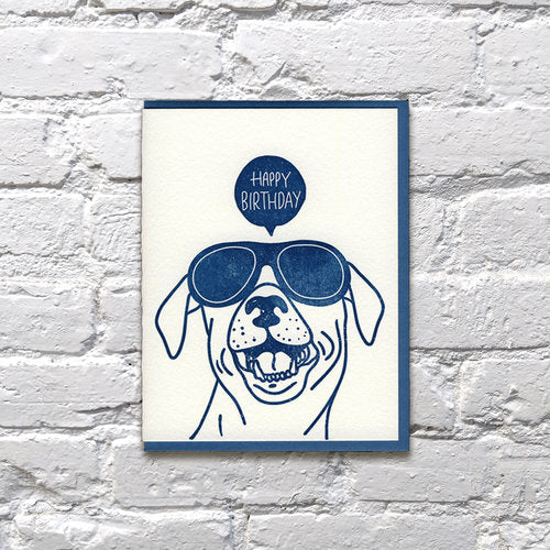 DOG PARTY BIRTHDAY CARD
