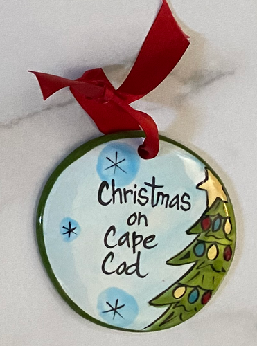 Christmas on Cape Cod Handpainted Ornament