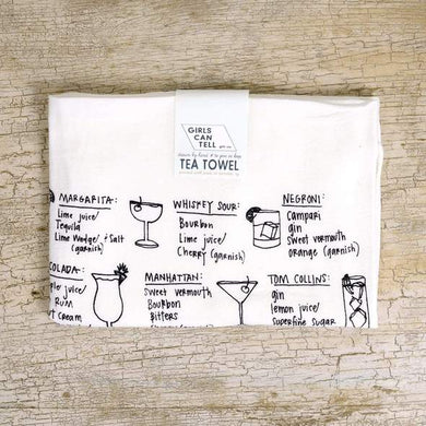 COCKTAIL RECIPES DISH TOWEL